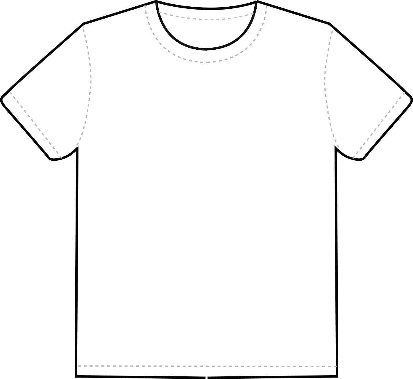 Design the t–shirt using this template to help you. It must include: